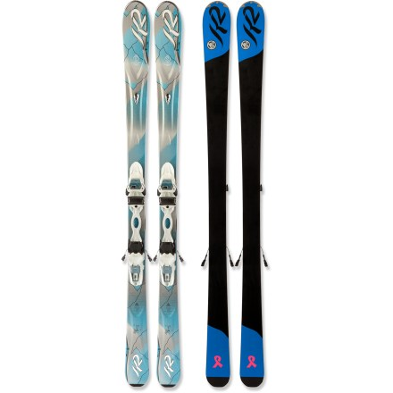 Ski Designed to keep the day fun and easy-going, the K2 SuperSweet skis with bindings are smooth, light and perfect for progressing skiers. - $199.83