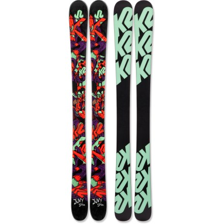 Ski Let your young freestyle skier take flight on the K2 Juvy skis. They have a design that's perfect for leaving the nest! - $99.83