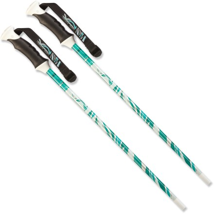 Ski The K2 Slope Style Ski poles feature a full-length composite construction that's lightweight and durable. Hit the slopes with these performance-driven poles and conquer the mountain. - $25.93