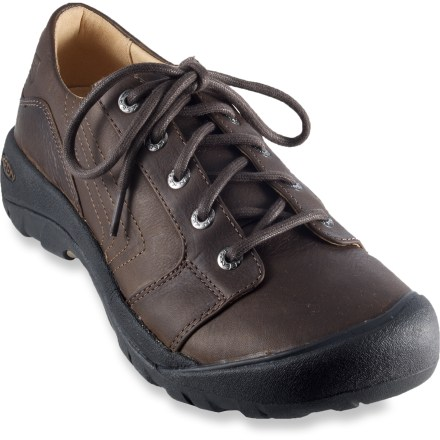 The casual Keen Alki Lace shoes support and cushion feet for days in the office, yet are rugged enough to handle excursions off the beaten paths. - $24.83