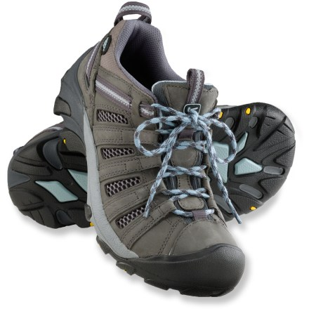 Fitness Keen Voyageur hiking shoes offer all-terrain traction and stability with breathable uppers that keep your feet cool on fair-weather trips into the mountains. - $115.00
