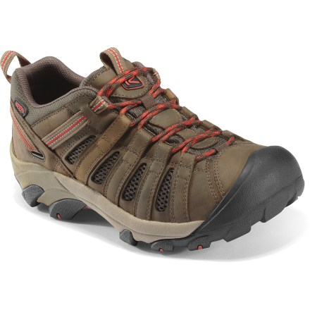 Fitness Like its cousin, Targhee, these Keen Voyageur hiking shoes offer the same 4-wheel drive traction and stability minus the waterproof barrier. - $115.00
