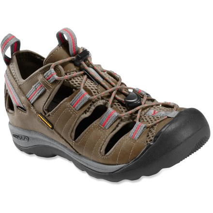 MTB What happens when you cross a hiking shoe with a bike shoe? Introducing the Keen Arroyo bike shoes featuring trail-shoe support and protection, the comfort of sandals and SPD-pedal compatibility! - $54.83