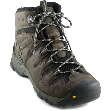 Camp and Hike The waterproof Keen Gypsum WP Mid hiking boots have long-lasting construction to keep feet protected during long treks. - $74.83