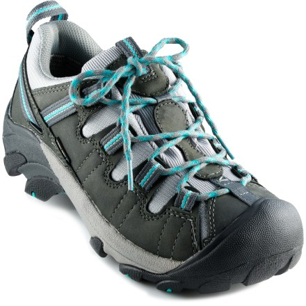 Camp and Hike Waterproof and versatile, the women's Keen Targhee II WP hiking shoes offer multisport utility, dependable protection from the elements and good support to keep you comfortable all day long. - $125.00