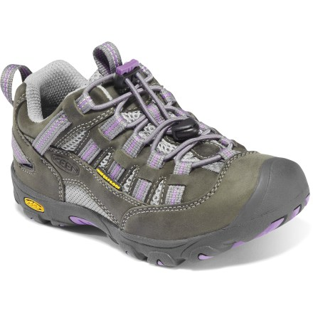 The girls' Keen Alamosa WP hiking shoes provide waterproof protection in a fun, versatile design for active girls who may want to splash in a puddle or two along the way. - $15.83