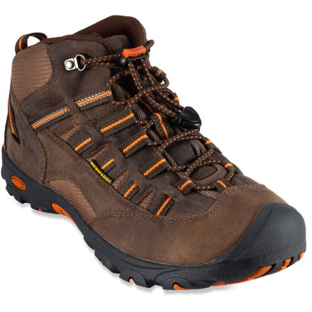 Camp and Hike These Keen Alamosa WP hiking boots offer lightweight, waterproof performance for little trekkers. - $36.83