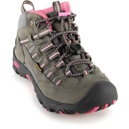 Camp and Hike Waterproof and trail-ready, the Keen Alamosa WP girls' hiking boots deliver performance aplenty for outdoor adventures. - $36.83