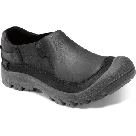 Slip into the Keen Fremont Slip-On shoes whether heading to work or hanging around town. These shoes can do it all. Full-grain leather uppers wrap feet in style; dual gores for easy on and off. Leather linings offer moisture management for all-day comfort. Polyurethane molded footbeds cushion each step. Durable rubber outsoles offer sure footing. Closeout. - $82.93
