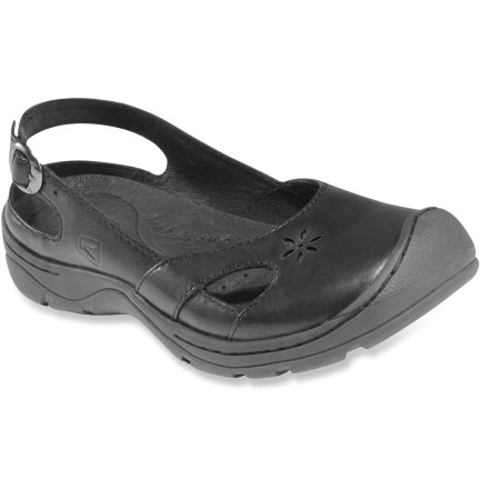 Keen Paradise Slip-On shoes are built for casual days around town. Full-grain leather uppers feature smooth leather linings for comfort whether wearing socks or going barefoot. Heel straps feature buckles for an adjustable fit. Removable polyurethane and memory foam footbeds cushion every step. Rubber outsoles provide a sure grip when exploring the city. Closeout. - $46.73