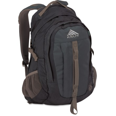 Camp and Hike The Kelty Redtail 26 daypack gets you and your gear up the trail in comfort, and it easily transitions to the city streets when commuting to school or work. Adjustable, padded shoulder straps and removable hipbelt distribute weight evenly for load-carrying comfort. Padded, breathable back panel wicks moisture to keep you comfortable in hot weather and during heavy exertion. Spacious main compartment with 2-way zipper features a reservoir sleeve for convenient hydration (reservoir not included). Large front pocket contains organizer panel, key clip and map pocket. Side mesh pockets provide easy access to water bottles and other small items. Carry even more gear with the daisy chain and ice-axe loop. Twin side compression straps stabilize the pack's contents. 600-denier polyester oxford and 420-denier polyester withstand the rigors of the trail. Closeout. - $39.83