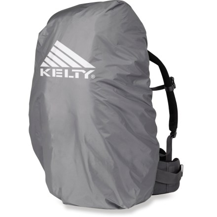 Camp and Hike The Kelty Pack raincover protects your gear from sudden downpours. Lightweight and easily stowable design is perfect for backpackers. Fits packs between 49 - 98 liters. Made of durable ripstop nylon taffeta. Closeout. - $25.93
