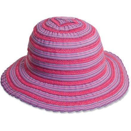 Entertainment Kindercaps Sewn Ribbon Cloche hat is a great choice for sun-filled adventures. Soft polyester fabric is quick drying for all-day comfort. Special buy. - $10.83