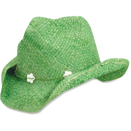 Entertainment The Kindercaps Straw Western hat is equally at home on the range, at the beach or around town. Western style hat has a shapeable brim that allows you to transform the hat to fit your personality. Special buy. - $6.83