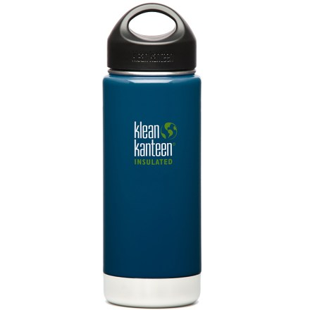 Camp and Hike The 16 fl. oz.  Klean Kanteen Insulated Stainless-Steel Wide-Mouth bottle with loop-top cap keeps your drink warm or cold for hours on end. - $20.93