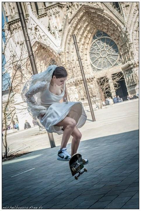 Skateboard belle et rebelle