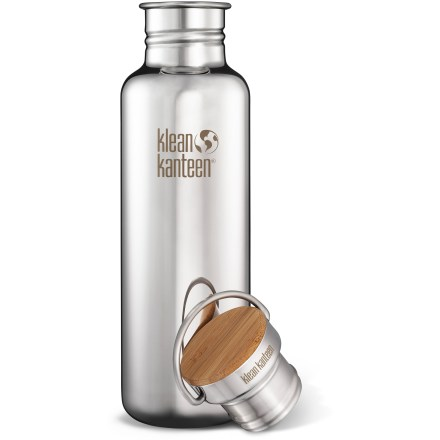 Camp and Hike The Klean Kanteen Polished Stainless-Steel Reflect water bottle with Bamboo cap has a beautiful mirror finish that is sure to catch the eye of all your friends. - $23.93