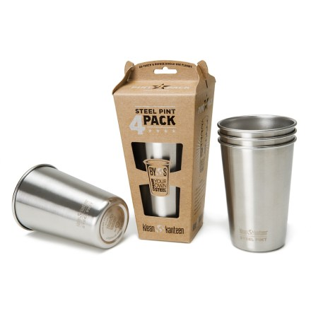 Camp and Hike Put down the plastic and pick up a Klean Kanteen Stainless-Steel Pint cup. - $17.93