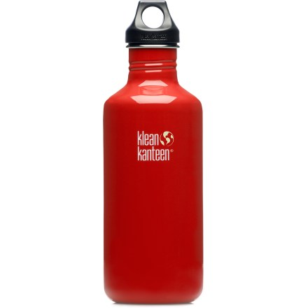 Camp and Hike Durable, lightweight and without the nasty aftertaste of many bottles, the attractive Klean Kanteen Stainless-Steel Water Bottle with Loop Cap is a great companion on any adventure! - $20.93