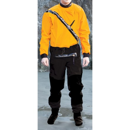 Kayak and Canoe The lightweight Kokatat Gore-Tex(R) Front Entry dry suit with relief zipper supplies splash protection for kayakers who want more comfort than neoprene wetsuits can provide. - $767.93