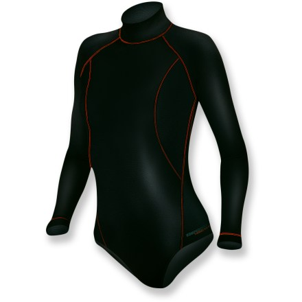 The Komperdell BC-Flex Fleece underwear bodysuit keeps you warm and stays in place. It's a great choice for active pursuits. - $41.73