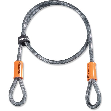 Fitness The KryptoFlex(R) 1004 cable is looped at each end, making it perfect for security when combined with quick-release components such as Kryptonite U-locks, disc locks and padlocks, sold separately. - $9.95