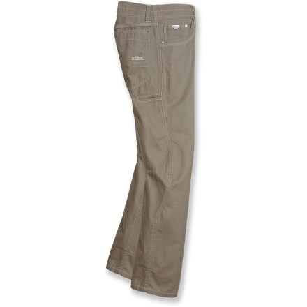 Climbing Head straight from the workplace to the climbing crag in the comfortable and stylish Kuhl Outkast pants. Combed cotton canvas has a soft hand for excellent comfort. Articulated design does without added seams and darts for a clean look. Standard 5-pocket design with a contoured cell phone pocket on the side provides ample space for essentials. Kuhl Outkast pants have a gusseted crotch to facilitate freedom of movement for increased comfort. - $37.83