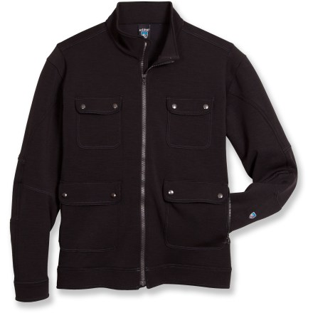 The Kuhl Stolkholm is a luxurious jacket made with high-performance fabrics. An industrial design and comfortable articulated fit add to its appeal. - $43.83