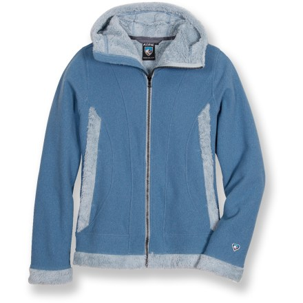 Wear the fuzzy Kuhl Alaskan jacket for immediate warmth and comfort on chilly days. Breathable, quick-drying and non-pilling polyester fleece offers warmth without a lot of weight, so you stay comfortable. Faux fur on hood, sides and hem adds warmth and style. Full-zip front; hand pockets. Closeout. - $34.73