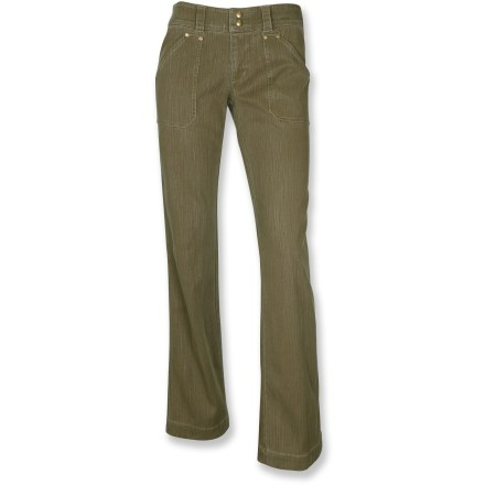 Camp and Hike The Kuhl Stirr pants are at right at home at the cafe and on you. Cotton/Tencel(R) lyocell blend fabric features a touch of spandex to move with you. 4 pockets offer plenty of room to stash your phone or some money. Dual button closure adds a bit of style. Closeout. - $31.83