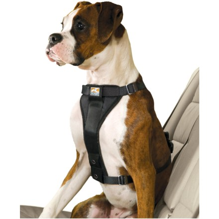 Camp and Hike The Kurgo Tru-Fit Smart Dog Harness serves double duty as an in-vehicle safety restraint and a walking harness. Keep your dog comfortable and safe both in and out of your car! - $14.93