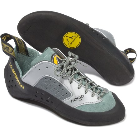 Climbing For long alpine climbs and single pitches at the crag or gym, the versatile La Sportiva Nago women's rock shoes provide great comfort and performance. - $68.93
