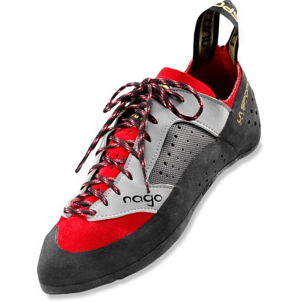 Climbing Go from the climbing gym to the crag with the all-around La Sportiva Nago rock shoes. - $68.93