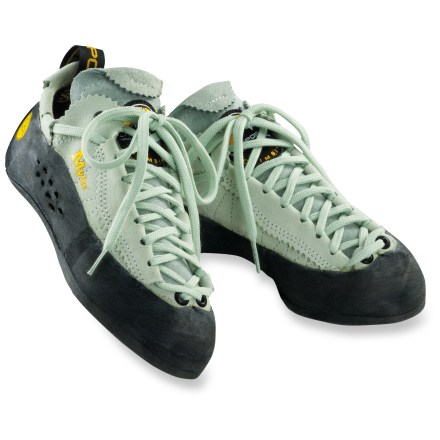 Climbing Push your limits on a sport climb, in the gym or on a long trad route with the slim and trim La Sportiva Mythos rock shoes. - $140.00