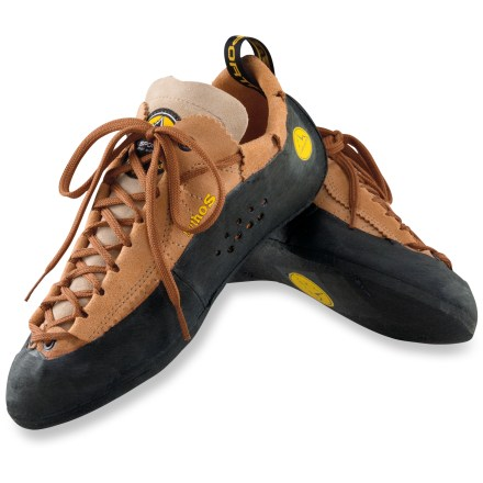 Climbing One of the most popular climbing shoes around, the venerable La Sportiva Mythos rock shoes are adored by both beginners and pros. - $140.00
