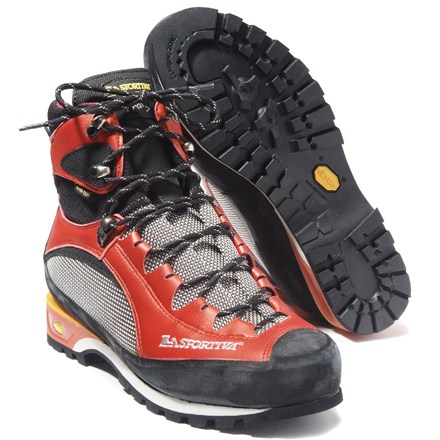 Camp and Hike These award-winning alpine boots with Gore-Tex(R) inserts feature all synthetic construction and a unique ankle-hinge system for ample support. - $159.83