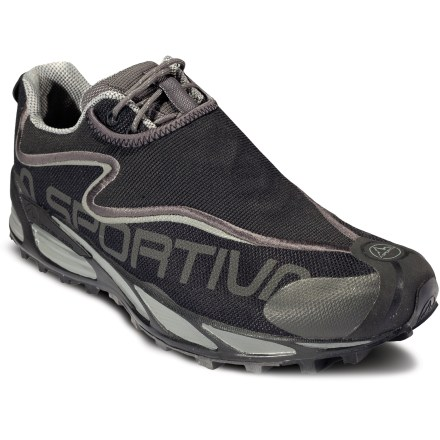 Fitness La Sportiva C-Lite 2.0 trail-running shoes offer featherlike weight, a low ride and a touch of stability, all with an aggressive outsole, ensuring high performance off the beaten path. - $54.83