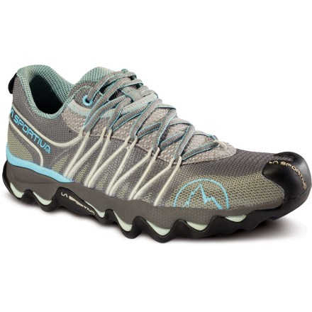 Fitness La Sportiva Quantum trail-running shoes feature sculpted, slip-lasted uppers and responsive, lightweight midsoles for great trail performance. - $64.83