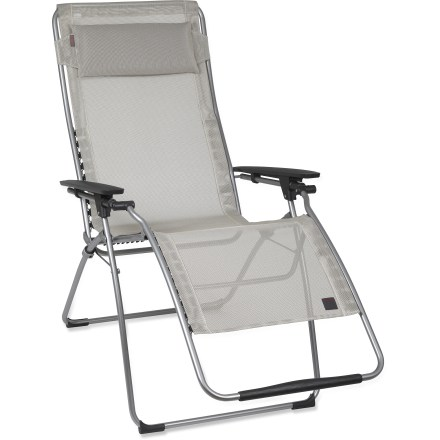 Camp and Hike The Lafuma Futura Clipper XL lounger chair gives you 2 in. of extra width compared to the standard Futura Clipper for greater comfort while you kick back and relax. - $160.93