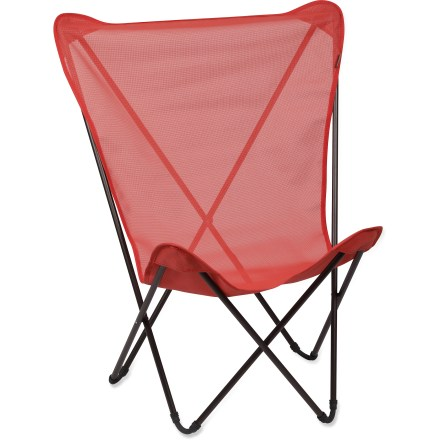 Camp and Hike The Lafuma Maxi Pop Up chair packs away small for easy transportation on road trips and camping adventures. And when you're ready to lounge, it opens up quickly and easily. - $16.83