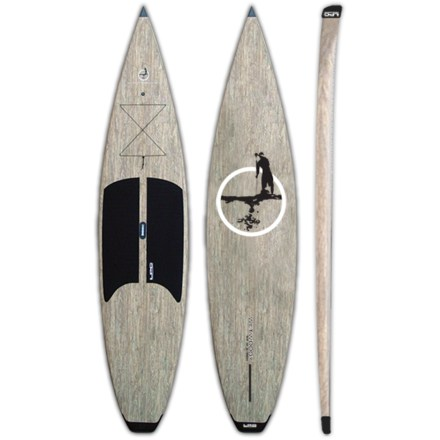 Wake The 21 lb. Lakeshore Paddleboard Company Wet Woody stand up paddleboard makes it easy to strap to the vehicle, drive to the water and go paddle! Lakeshore Paddleboard Company specializes in making boards which are meant for flatwater, and the Wet Woody is no exception. Vertically shaped front bow slices through the water like the bow of a canoe, and front-displacement hull enhances performance on flatwater. Thick, squared rails increase stability, durability and buoyancy, and low rocker from tip to tail enhances glide. Incredibly stable 32 in. width offers stability that inspires confidence in beginning paddlers and offers pleasurable performance for any skill level. EPS and fiberglass sandwich outer shell and a hollow core reduces weight and creates a highly responsive board that's easy to get to the water-board weighs only 21 lbs.! Comfortable deck pad offers traction and softness under your feet. Tie-down points and front bungee cord transport accessories. 11 in. fiberglass fin enhances tracking. 2-way air vent reduces condensation and equalizes pressure due to temperature and elevation changes with a waterproof, breathable membrane. Built-in carry handle built at the center of mass eases transport to the water. Proudly built in Minden, Nevada. - $1,570.93