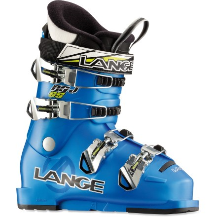 Ski The Lange RSJ 65 Jr ski boots let young skiers bring precise speed to their next descent. - $79.93