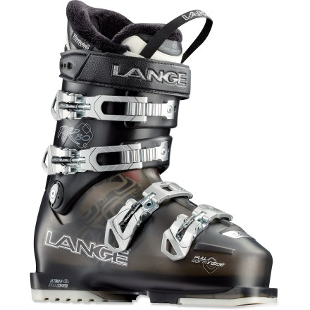 Ski Warm and comfortable, the women's Lange Exclusive RX 80 LV ski boots feature an expert fit for narrow feet. - $159.83