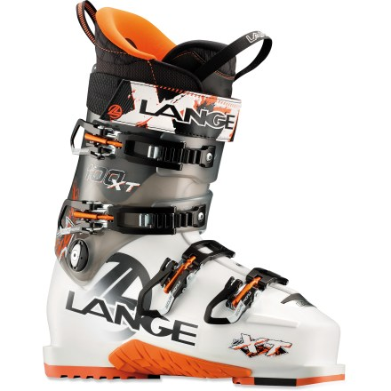 Ski Do you love to climb, but aren't convinced that wimpy sidecountry boots can hold up to fast descents? Take the Lange XT 100 ski boots for a spin and enjoy high performance when you need it. - $219.83