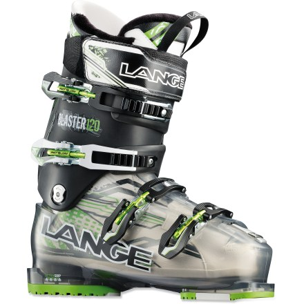 Ski Offering a mix of comfort and precision, the Lange Super Blaster ski boots go from hairpin turns on steeps to sweeping arcs on groomers with predictable ease. - $199.83