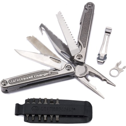 Camp and Hike The Leatherman Charge Titanium TTi multi-tool combines 2 winning multi-tools, the Charge AL and ALX, to create this jam-packed tool that's easy and comfortable to use. - $169.85