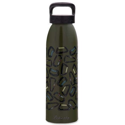 Camp and Hike The Liberty Bottleworks On Belay aluminum water bottle displays your love of rock climbing. Made in the United States from 100% recycled aluminum; food-grade polyester powder-coated interior of bottle is BPA free. Food-grade polypropylene screw cap with a food-grade silicone O-ring prevents leaks. Liberty Bottleworks On Belay water bottle holds 24 fl. oz. Closeout. - $7.73