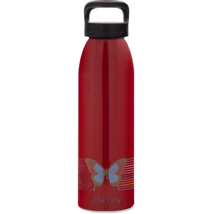Camp and Hike The Liberty Bottleworks Flutter aluminum water bottle is a great way to bring water to work or the trail. Stay hydrated. Made in the United States from 100% recycled aluminum; food-grade polyester powder-coated interior of bottle is BPA free. Food-grade polypropylene screw cap with a food-grade silicone O-ring prevents leaks. Liberty Bottleworks Flutter water bottle holds 24 fl. oz. Closeout. - $7.73