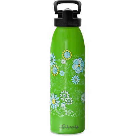 Camp and Hike Quench your thirst with a sip of cool water from the Liberty Bottleworks Spring Thaw Aluminum water bottle with Sport Top. Made in the United States from 100% recycled aluminum; all materials used are 100% BPA free. Use the food-grade polypropylene sport top with the included straw installed for easy drinking-just flip the bite valve up, bite and sip. If you prefer lifting and tipping, you can remove the straw and drink from the bite valve, or remove the cap entirely and drink straight from the bottle. Food-grade silicone O-ring in the cap limits leaks. Food-grade polyester powder coat on the inside of the bottle is BPA free. Liberty Bottleworks Spring Thaw Aluminum water bottle with Sport Top holds 24 fl. oz. - $12.93