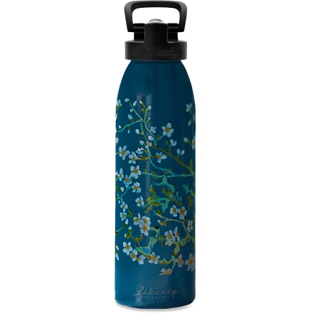 Camp and Hike Quench your thirst with a sip of cool water from the Liberty Bottleworks Blossom Aluminum water bottle with Sport Top. Made in the United States from 100% recycled aluminum; all materials used are 100% BPA free. Use the food-grade polypropylene sport top with the included straw installed for easy drinking-just flip the bite valve up, bite and sip. If you prefer lifting and tipping, you can remove the straw and drink from the bite valve, or remove the cap entirely and drink straight from the bottle. Food-grade silicone O-ring in the cap limits leaks. Food-grade polyester powder coat on the inside of the bottle is BPA free. Liberty Bottleworks Blossom Aluminum water bottle with Sport Top holds 24 fl. oz. - $12.93